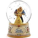 ディズニー プリンセス スノードーム ベル ビースト (美女と野獣) ウォーターグローブ 120mm 木彫り調フィギュア ディズニー・トラディション