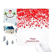 心の花の幸せなバレンタインデー サンタクロース家屋ゴムのマウスパッド