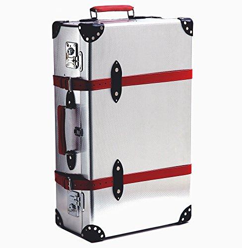 (グローブトロッター)GLOBE TROTTER スーツケース EKOCYCLE ALUMINIUM 30EXTRA DEEP エコサイクル30インチ2輪エクストラディープトローリー GT EKO ALIR 30ED/ALUMINIUM*RED [並行輸入品]