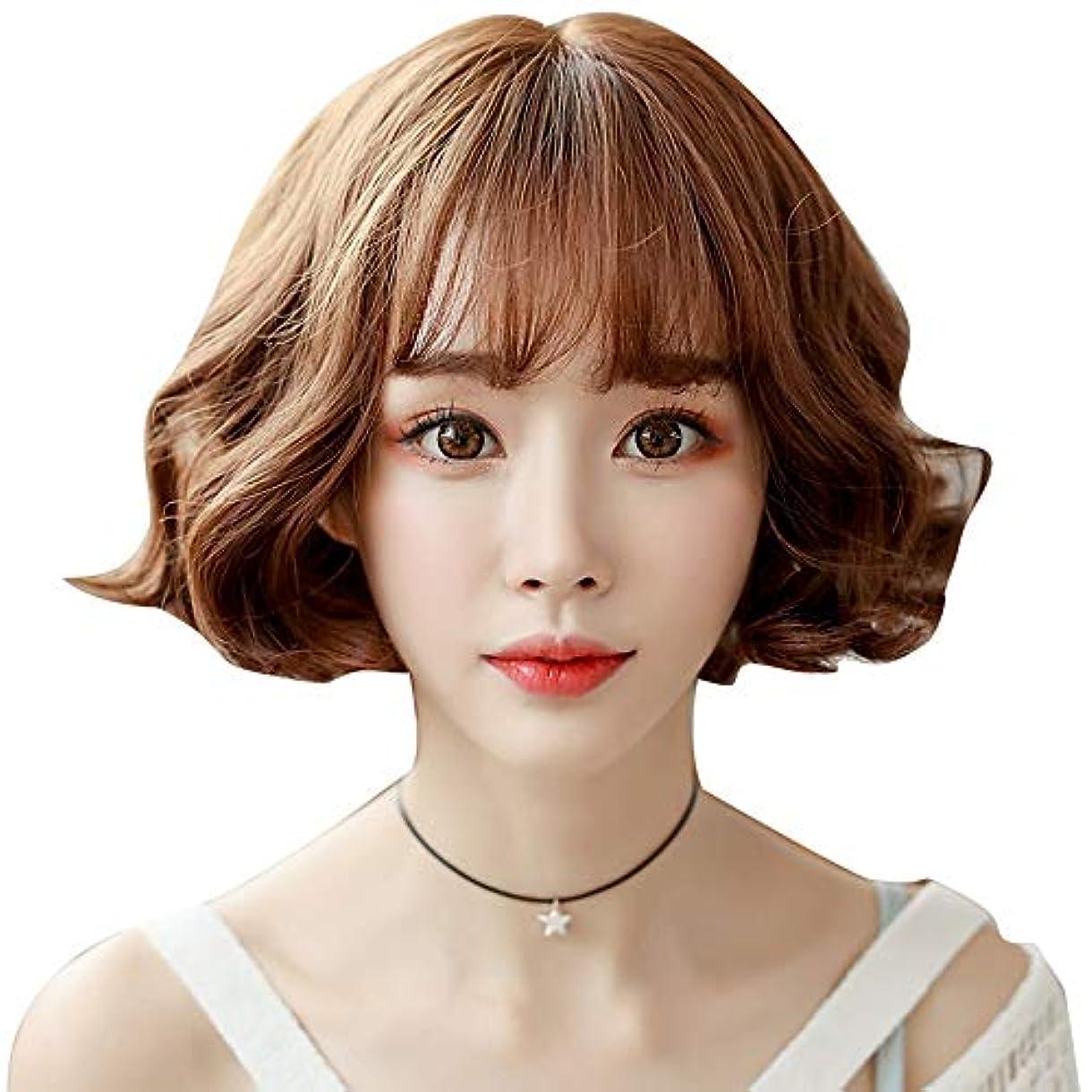 階スキーいろいろSRY-Wigファッション 前髪かつら女性ショートヘアナチュラルフルヘッドカラーボボヘッド鎖骨ロングヘアかわいいショートカーリーヘア