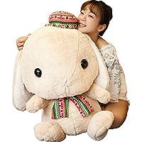 (viviwo)抱き枕 ぬいぐるみ ウサギ かわいい 女子向け ギフト インテリア 抱き枕 添い寝 入学祝い 卒園祝い 誕生日 プレゼント (75cm, カーキ)