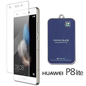 WANLOK 通常版 HUAWEI P8lite / Y!mobile LUMIERE 503HW ガラスフィルム 国産 液晶保護フィルム 0.3mm 9H ラウンドエッジ 指紋防止 安心90日保証 【国内正規品】 P8 lite