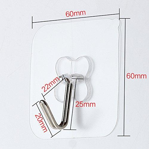 Dearmin 8個入れ 強力 粘着フック 壁 傷つけない 四つ葉のクローバー 図案 耐荷重8kg