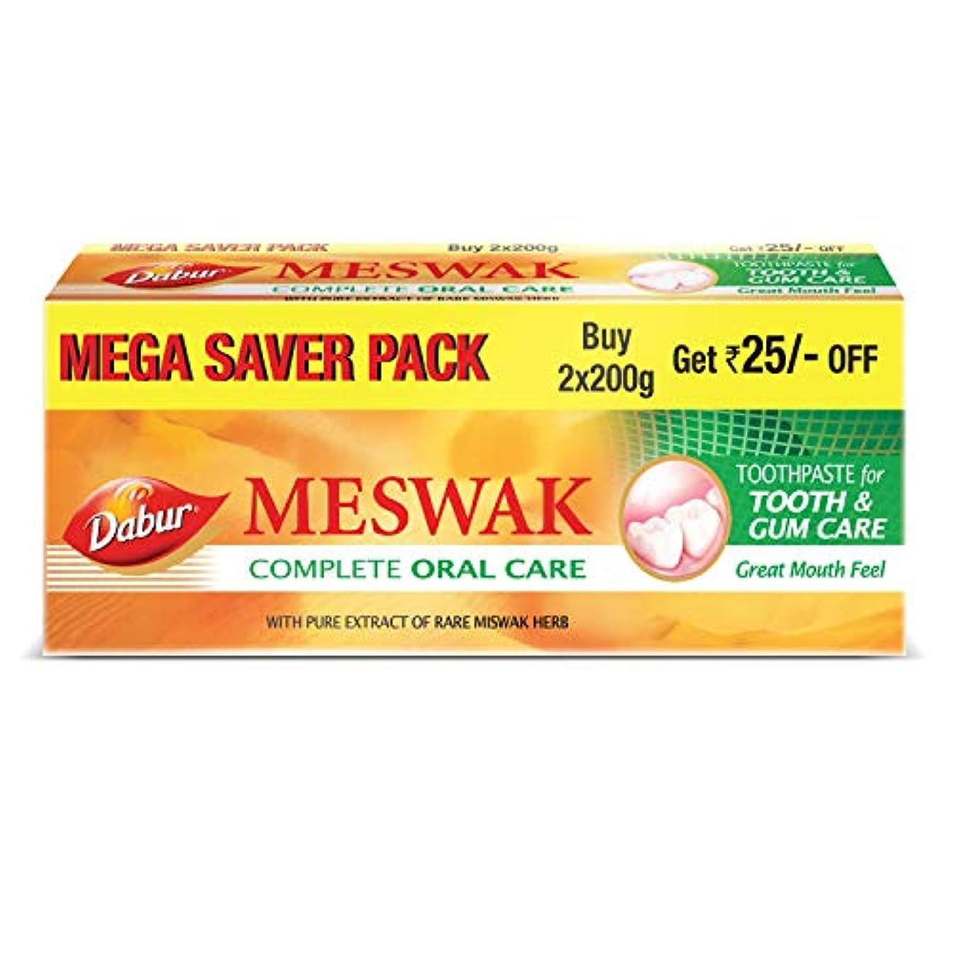 ショッピングセンターアンティーク浪費Dabur Meswak Toothpaste -200g (Pack of 2)