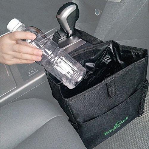 Big Ant(ビッグアント)車内ゴミ箱 ダストボックス 整理車 車ゴミ小物入れ ティッシュ ゴミ箱 ダストボックス ダストポケット サイドポケット付き 折り畳み可能
