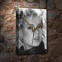 KIM WILDE - キャンバス時計(LARGE A3 - アーティストによる署名入り) #js004