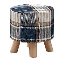 ヨーロッパの椅子のフットスツール、ファッションクリエイティブソリッドウッドスツール、靴のベンチ、子供大人ホーム GMING (色 : B)