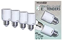 High QualityD 604830 Premium U.L. Listed Socket Extenders for LED CFL and Incandescent light bulbs, 4 Pack (Two x 2-Packs)