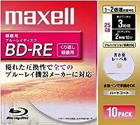 maxell 録画用 BD-RE 25GB 2倍速対応 書き楽レーベル(ノンプリンタブル) ピンク10枚入 BE25VSKA.10S