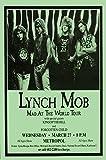 Lynch Mob Mad At The World Tourレトロアートプリント???ポスターサイズ???印刷のレトロコンサートポスター???機能ジョージ・リンチ、Oniローガン、ジミー・D 'anda、およびSean McNabb???。