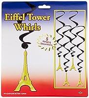 Beistle 54281 Eiffel Tower Whirls 34-Inch (3) [並行輸入品]