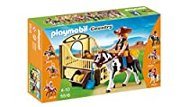 PLAYMOBIL (プレイモービル) Rodeo Horse with Stall Set(並行輸入品)