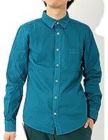 (リピード) REPIDO メンズ シャツ ブロード サマー ワイシャツ 7分袖 長袖