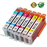 【Color-ink】bci-351XL CMY 各2本セット カラー6本セット 【高品質】キヤノン 互換インクカートリッジ ICチップ付 残量表示 【安心一年保証】対応プリンター:PIXUS MG5530 MG5430 MX923 iP7230 MG7130 MG6530 MG6330