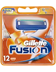 ジレット 髭剃り フュージョン5+1 替刃12個入
