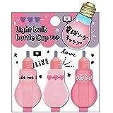 【ファンシー文具】電球ソーダ型鉛筆キャップ(ピンク) 211007