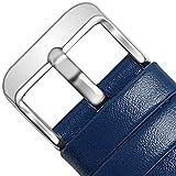 全12色 Smart watchバンドFullmosa Axusi Series Smart 腕時計 本革ベルトFor Samsung Gear S2,Moto 360,Huaweiスマートウォッチ 交換用ステンレス ラグ付き、20mm紺青