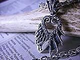 天使と悪魔が交錯する。人の心を惑わせる大きな翼が胸を騒がせる■Hyde系羽根エンジェルデビルフェザーネックレス/ペンダント/トップ/チャーム