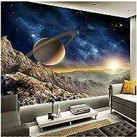 Xbwy カスタム任意のサイズの壁画壁紙3Dステレオプラネットムーン壁画レストランクラブKtvバーモダンな装飾-120X100Cm