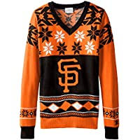 (San Francisco Giants, Large) - MLB Women's V-Neck Sweater
