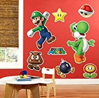 BirthdayExpress Super Mario Room Decor - Giant Wall Decals [並行輸入品]
