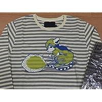 激レア 未使用袋付き バオー来訪者ultra-violence ノッツォ ボーダーシャツ Mサイズ 初期荒木飛呂彦作品 NOZZO BAOH カットソー