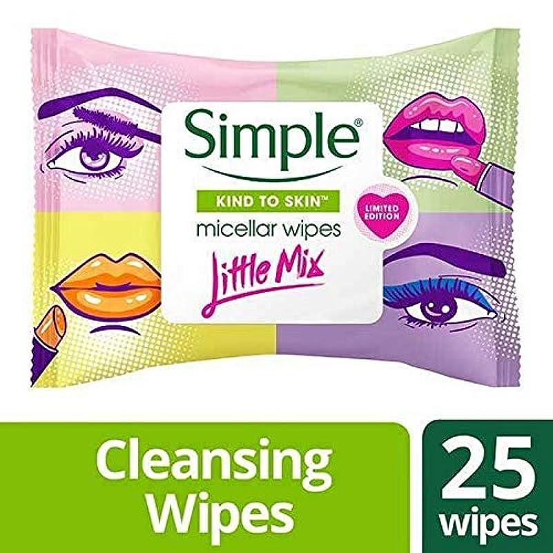 常習者配管工むき出し[Simple ] 単純X少しミックスミセルは、25Sワイプ - Simple x Little Mix Micellar Wipes 25s [並行輸入品]
