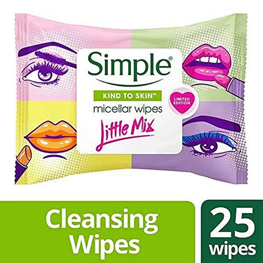 アウトドア葉ずるい[Simple ] 単純X少しミックスミセルは、25Sワイプ - Simple x Little Mix Micellar Wipes 25s [並行輸入品]