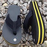 [sanda] シークレットサンダル 厚底4cm 身長アップ 青、赤、黄、白 (26-27cm, 黄)