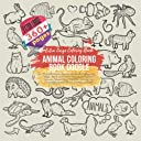 Animal Coloring Book Doodle. Extra Large Coloring Book - Over 360 Pictures themes include: Bee Happy, Joy, Magic, Island, Desk Tools, Office Work, Bedroom, Desserts, Sweets Food, Transport, Birthday, Fast Food, Eggs, People, Soccer, Ecology, and more