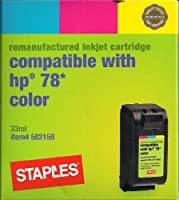 Staples Remanufacturered Injet Cartridge Compatible with HP 78 Color by Staples