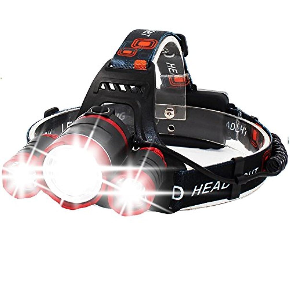 アーティファクト大惨事マイクロNanle テレスコピック超明るいZoomable 4モードLEDヘッドトーチ、充電式防水フォーカスヘッドライト、3クリーXM-L T6 LEDヘッドランプキャンプハイキングランニングウォーキング屋外ライト