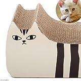 iCat ネコ型インテリアつめとぎ しまネコ オレンジブラウン 猫 爪とぎ
