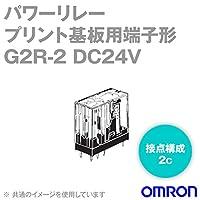 オムロン(OMRON) G2R-2 DC24V パワーリレー (プリント基板用端子形) (耐フラックス形) (接点構成 2c) (コイル定格電圧 DC24V) NN
