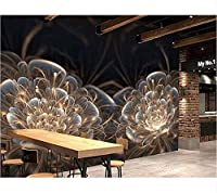Weaeo モダンな幻想的な3D壁画壁紙Ktvホテルレストランのためのファンタジーフラワーアート壁紙ホームデコレーション-250X175Cm