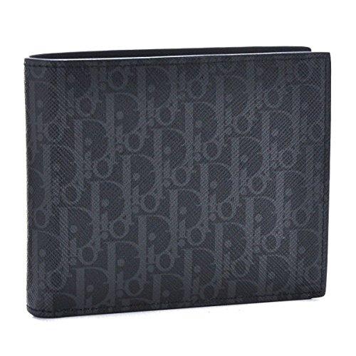 DIOR HOMME(ディオール・オム) 財布 メンズ PVCコーティングキャンバス 2つ折り財布 ダークグレー×ブラック 2DEBC027-XIS-02G [並行輸入品]