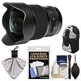 Sigma 20mm F / 1.4DG HSM Artレンズfor Canon EOSデジタル一眼レフカメラwithバックパック+キット