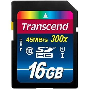 Transcend SDHCカード 16GB Class10 UHS-I対応(最大転送速度45MB/s) (無期限保証) TS16GSDU1E (FFP)【Amazon.co.jp限定】