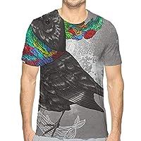 変な鳥 Tシャツ メンズ 半袖 薄手 吸汗速乾 汗染み防止 緩い 夏 セクショ ンのファッション