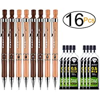 ExcelFu シャープペンシルセット 16本 0.5mm シャープペンシル 2B/HB替え芯 書く/描画/署名用