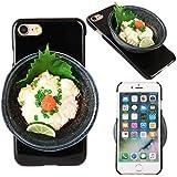 iPhone7 ケース カバー 食品サンプル 白子 ポン酢 クリアケース ハードケース