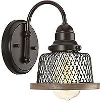 """Progress Lighting p300042ティレーSingleライト6–3/ 8"""" Wideバスルーム壁取り付け用燭台with M、 ブラウン 94300042020 1"""
