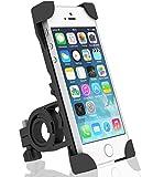 Gogogu 自転車/バイク スマホホルダー 携帯ホルダー 固定用マウント 多機種対応 360度回転 脱落防止 ブラック