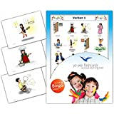 Verbs Flashcards in German Language - Set 1 - Flash Cards with Matching Bingo Game for Toddlers, Kids, Children and Adults - Size 4.13 × 5.83 in - DIN A6