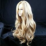 Fabulous Long Wavy Honey Blonde mix Ladies Wigs UK