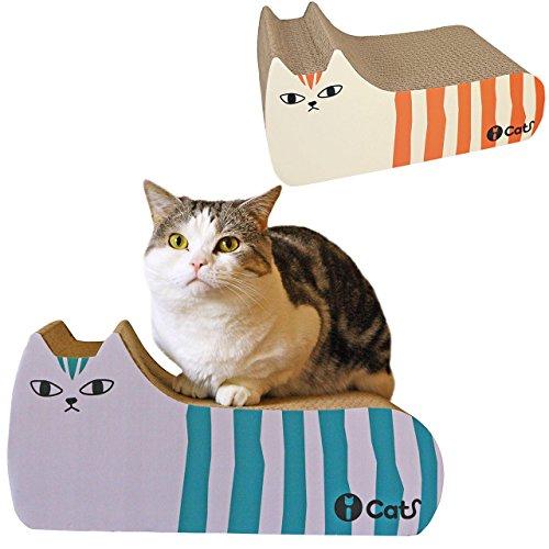 RoomClip商品情報 - iCat アイキャット オリジナル つめとぎ しまネコ オレンジブラウン 猫 つめとぎ