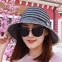 Women's Hat Ms Cap Visor Collapsible Sun Hat Beach Hat Summer (Color : Black, Size : -)