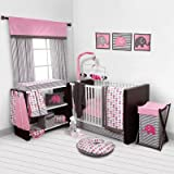Best Bacati布団セット - Elephants Pink/Grey 10 pc crib set including Bumper Review