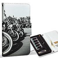 スマコレ ploom TECH プルームテック 専用 レザーケース 手帳型 タバコ ケース カバー 合皮 ケース カバー 収納 プルームケース デザイン 革 写真・風景 写真 バイク モノクロ 白黒 008687