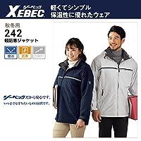 XEBEC(ジーベック) 防寒 ジャケット 軽量防寒 ブルゾン 色:シルバーグレー サイズ:5L